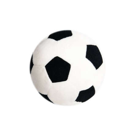 textile soccer ball isolated on a white background Stock Photo