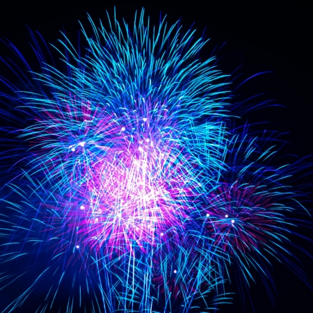 Colorful fireworks on the black sky background Stock Photo - 16325571