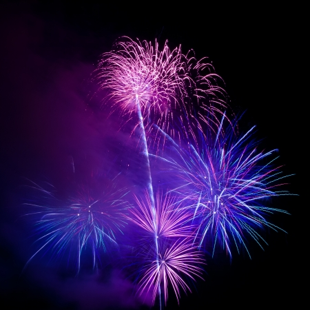 Colorful fireworks on the black sky background Stock Photo - 16787285