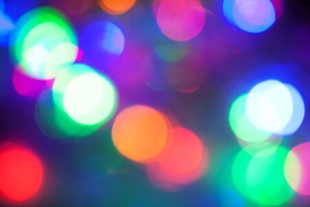 Defocused abstract festive lights  background Stock Photo