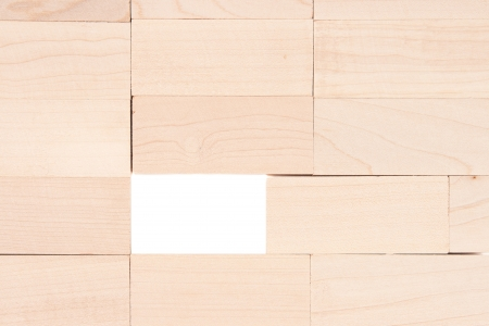 Wooden rectangle blocks background  Stock Photo