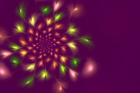 copyspace: abstract lilac flower fractal background with copy-space for your text Stock Photo