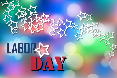 Happy Labor Day with Stars Banner. Labor Day Vector Background