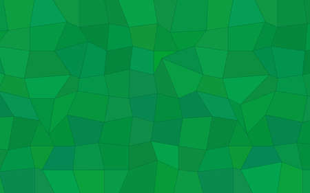 Abstract polygonal background of triangles and tetragons in green colors Illustration
