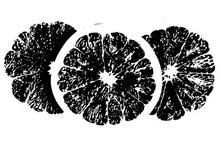 orange slice: Distressed halftone grunge texture - orange slice background
