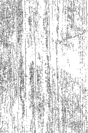 Distressed halftone grunge texture, old wood scratch background. Black and white vector illustration for dust overlay, creation abstract vintage effect with noise and grain.