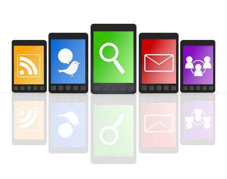 携帯電話のスマート フォン 写真素材 - 10890006