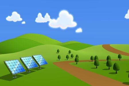 Solar power  Solar panels photo