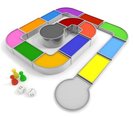 juego: Dados y el juego Foto de archivo