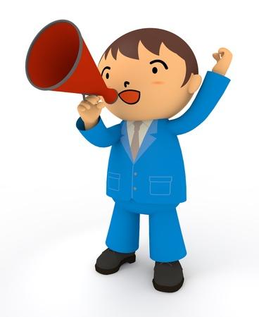 salaryman: Cheering Business Stock Photo