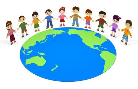 地球の子供たち 写真素材