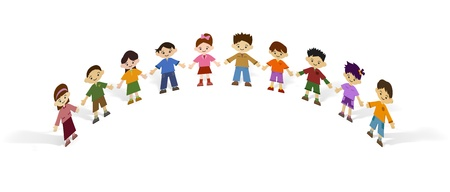 10 children Stock Photo