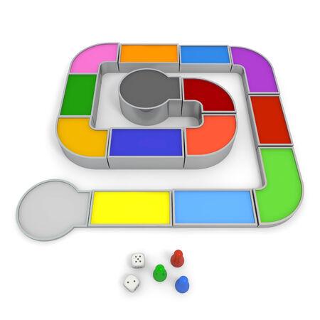 gamesmanship: Juego de mesa Foto de archivo