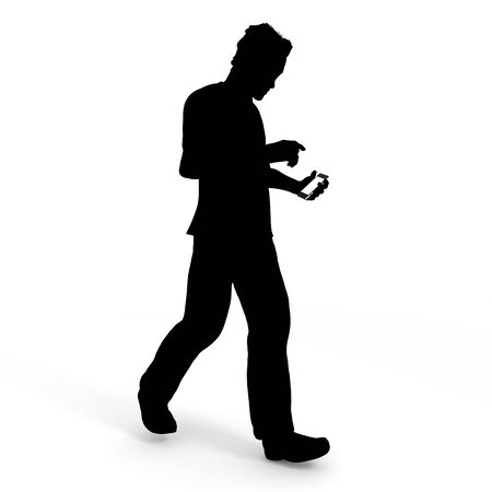 While walking smartphone  men