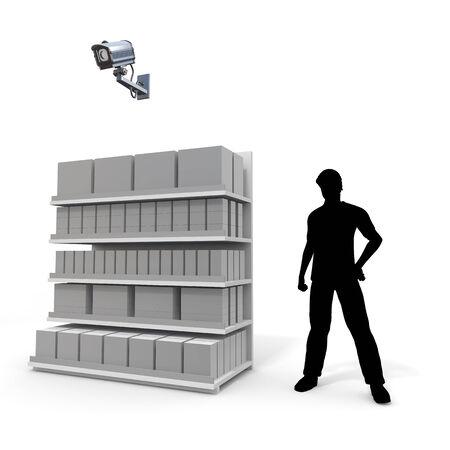to observer: Observer  Surveillance camera Stock Photo