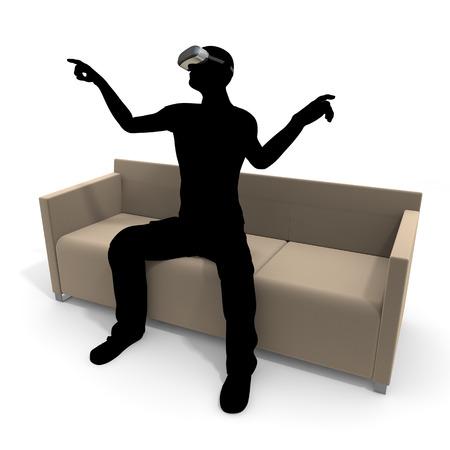 VR、AR、バーチャル ・ リアリティー 写真素材 - 61036580