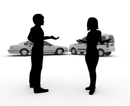 Verkeersongeval  biljart  gevecht