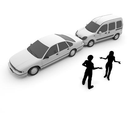 Verkeersongeval  biljart  botsing