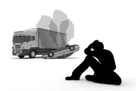 carelessness: Traffic accident  collision  disappointment Stock Photo