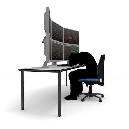 破産オンライン取引 写真素材