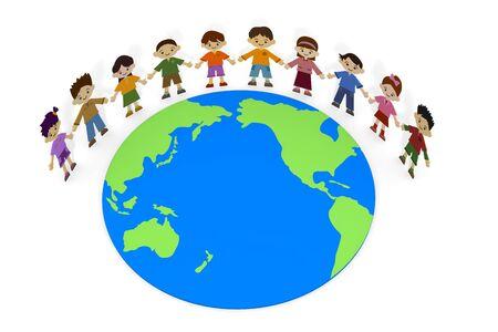 地球を見ている子供 写真素材 - 93695748