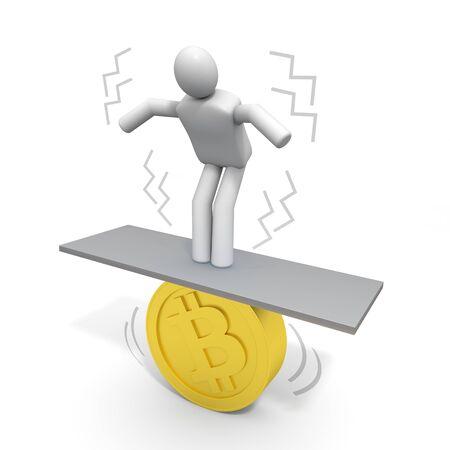 仮想通貨を購入する人。