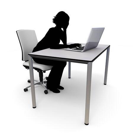 WomanInternet  laptop