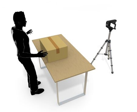 Luggage/Video Camera 写真素材 - 95872495