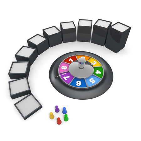 rouletteBoard gamepiecePLA3 D illustration 写真素材