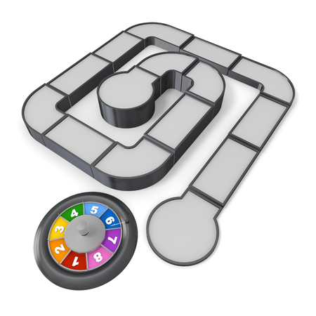 Board Game  roulette  Play  3 D illustration