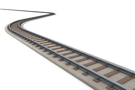 Winding track Follow the track. 3D illustration