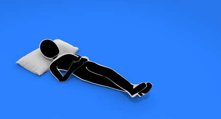 A person who takes a nap. A person to take a break. Sleep comfortably. 3D rendering Stock fotó