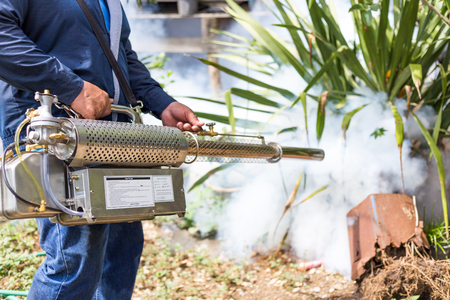 Fumiger moustiques à la maison pour la protection moustiques Banque d'images - 44758243