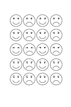 smiley: White round Smiley Illustration