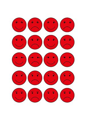 smiley: Red round Smiley
