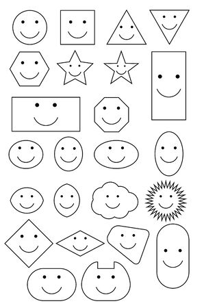 Smiley shapes Illustration