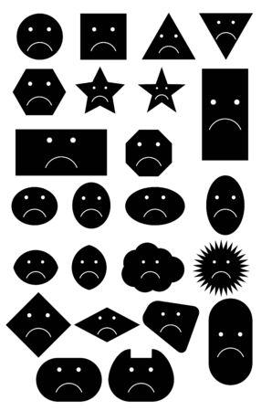 sad smiley: Sad Smiley shapes Illustration