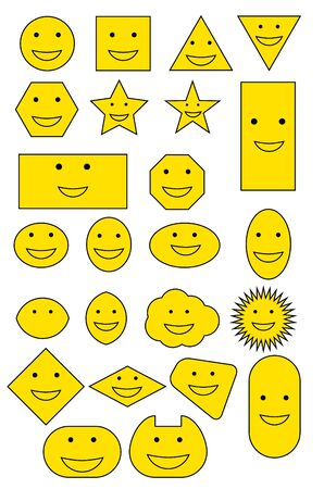 smiley: Yellow Smiley shapes Illustration