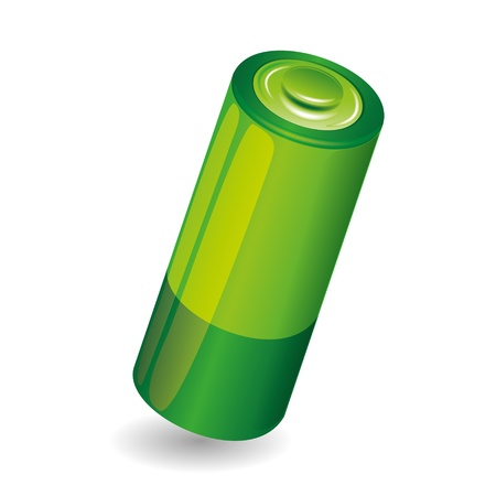 Battery isolated on white background Stock Vector - 21536770