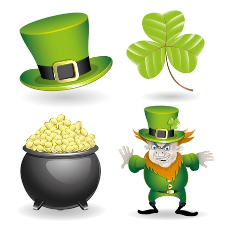 Set of St Patrick's Day   Vector