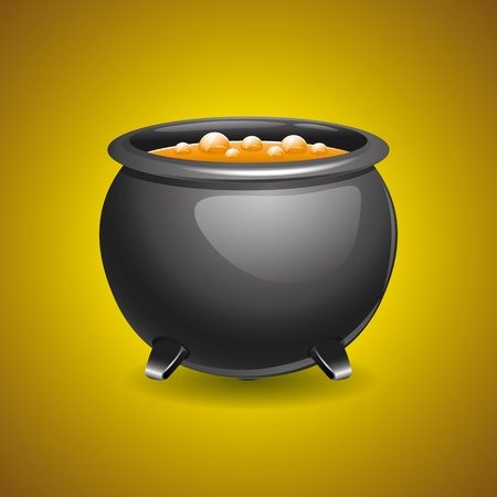 Pot of soup   Stock Vector - 21536778