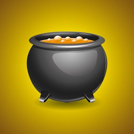 Pot of soup   Stock Vector - 21536778