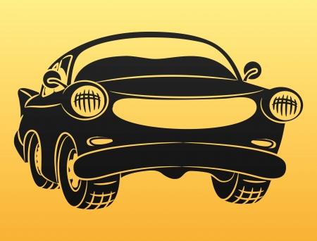 Black car sign   Illustration