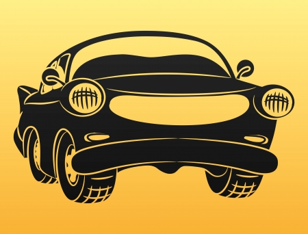 Black car sign   Vector