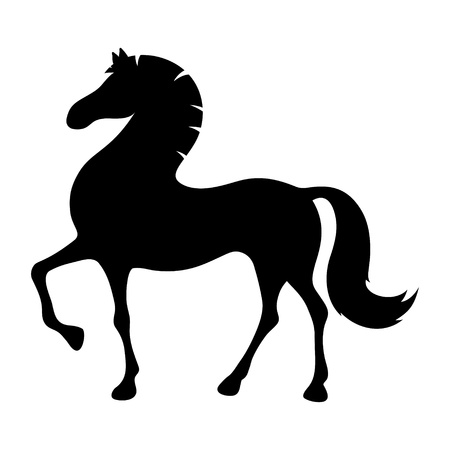 silhouette cartoon horse   Stock Vector - 21521686