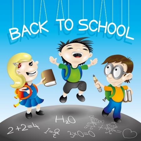 Illustration zurück in die Schule