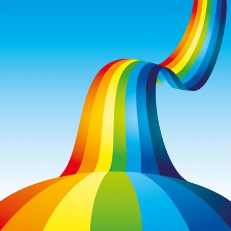 cartoon rainbow: Fondo del arco iris Vectores