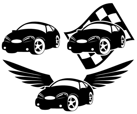 Vector  3 icons  Cars Stock Vector - 21609617