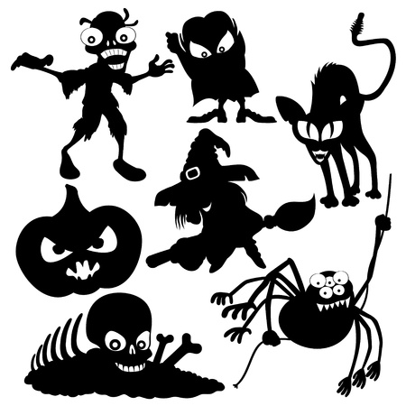 Vector silhouettes  Halloween   Vector