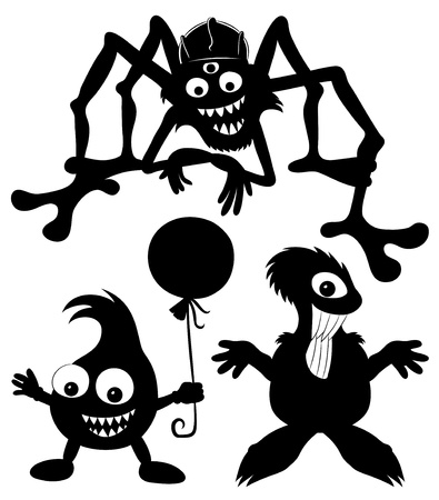 Vector silhouettes  Monster set Stock Vector - 21609677